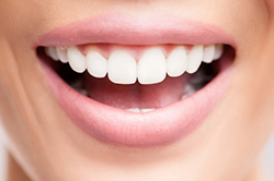 Stock image of healthy beautiful smile